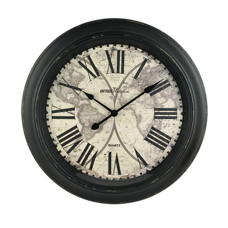 16 inch hot-selling Northern Europe home decorative antique plastic wall clock